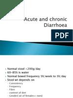Acute and Chronic Diarrhoea