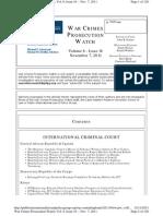War Crimes Prosecution Watch November 7
