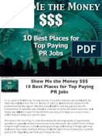 Show Me the Money 10 Best Places for Top Paying PR Jobs