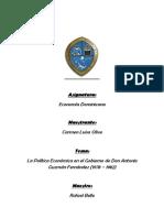 Gobierno Don Antonio Guzman