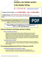 A Primer to Fibonacci Numbers & Golden Section
