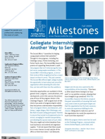 Milestones Fall 2008 - The Second Mile Newsletter