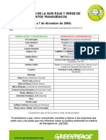 Guia Roja y verde de alimentos transgenicos 2009