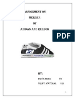 ADIDAS and REEBOK merger