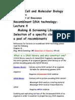 Bio 423 Lecture 4