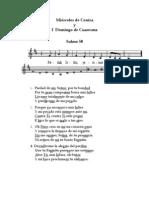 Partituras de Los Salmos de Cuaresma - Ciclo a - 2008
