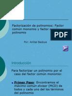 Factor Comun Polinomio