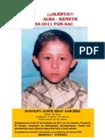 Busqueda nino Rodolfo Josué Shoc Sánchez
