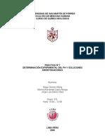 DeterminaciÓn Experimental Del Ph y Soluciones Amortiguadoras