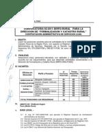 Dirfo Rural Comunicado Convocatoria Cas Nro 02 2011