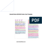 ECO2023 - Exam 2 Index Card Template