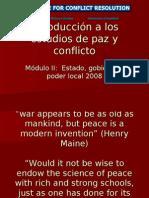 Introducción a Los Estudios de Paz y Conflicto