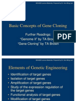 Basic Concepts of Gene Cloning