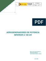 4.- Aerogeneradores de Potencia Inferior a 100 Kw