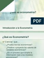 Introducción a la Econometría