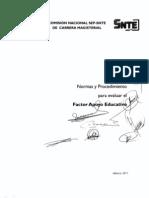 Normas y Procedimiento Factor Apoyo Educativo 2011