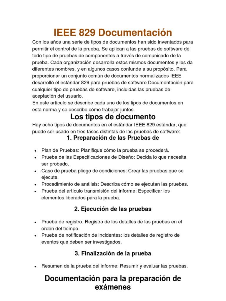 Excepcional Plantilla Del Plan De Prueba Ieee Patrón - Colección De ...