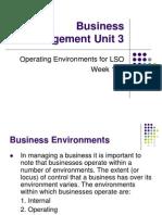 LSO - Operating Environments