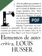 Althusser Elementos de Auto Critic A OCR