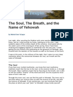 The Soul, The Breath, and the Name of Yehowah (by Melech ben Ya'aqov)