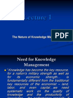 Lecture 1 - The Nature of Knowledge Management