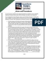 VHM CV Policies and Procedures