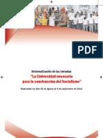 Folleto Universidad Socialist A - UBV - LINEAS ESTRATEGICAS