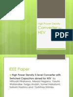 High Power Density Converter for HEV
