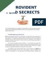 6 Provident Fund Secrects