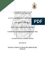Unidad 2 Sujetos del Derecho del trabajo seccion 58 Edgar Landeros Muñoz