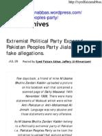 PPP Allegation on Molana Maudoodi