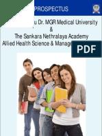 Allied Health Science Programs Brochure