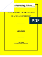 Apartheid and the Challenges of African Leaership