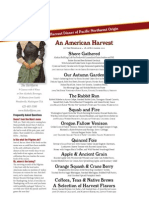 American Harvest Menu Draft 11 November 2011