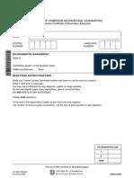 Igcse Enviromental Management Paper2 2008
