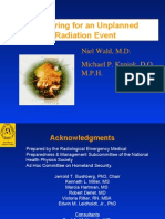 Preparing for an Unplanned Radiation Event