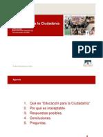 Presentación Multi Confer en CIA HO Sobre Educación Para La Ciudadanía