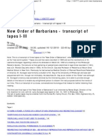 New Order of Barbarians - Transcript of Tapes I-III