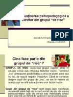 Sustinerea Psihopedagogica a Elevilor Din Grupul de Risc