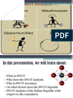 SWOT Analysis of Italy Ppt