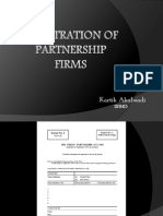Registration of Firms