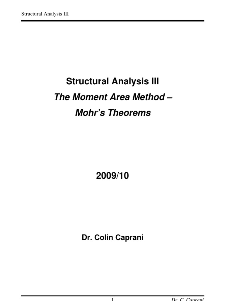 Mohrs Theorems Structural Analysis Bending Moment Diagram Resulting From The Plastic Of A