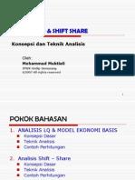 Analisis Lq & Shift Share