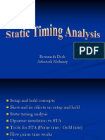 Static Time Analysis