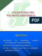 Valoracion Del Paciente Geriatrico
