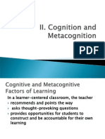 FACI LEARNING-Cognition & Met a Cognition