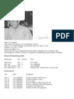 Life History of Professor