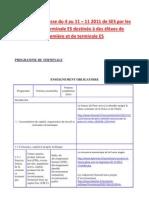 Revue de Presse de Terminale ES Du 4 Au 11 Novembre 2011