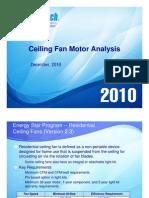 Ceiling Fan Motor Analysis