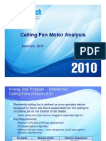 Ceiling Fan Motor Analysis